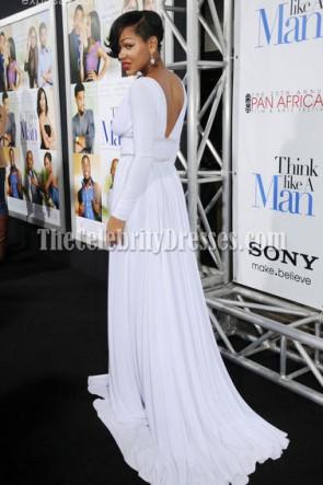 Meagan Bonne robe de bal blanche sexy Pensez comme un homme Premiere