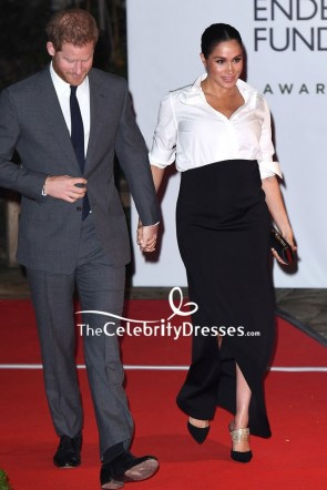 Meghan Markle Black Long Skirt Endeavour Fund awards Red Carpet