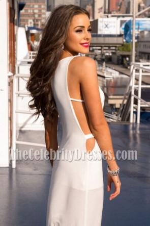 Miss Univers Olivia Culpo Blanche Découpée 21ème Anniversaire
