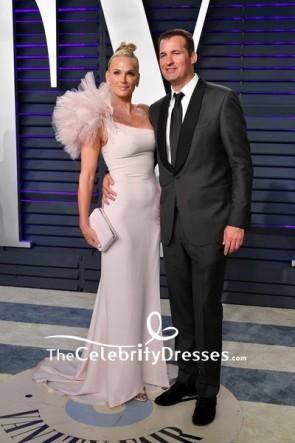 Molly Sims One-shoulder Sheath Evening Dress 2019 Vanity Fair Oscar Party TCD8321