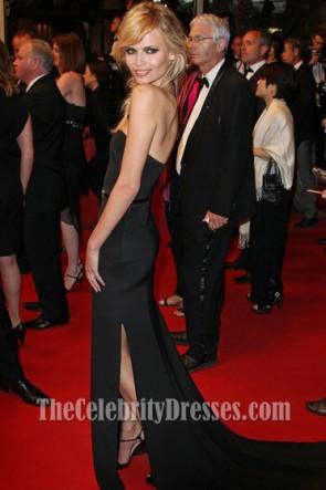 Natasha Poly Robe de soirée noire Festival de Cannes 2012 tapis rouge
