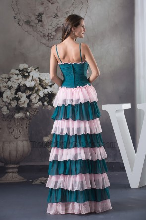 New Style Chiffon A-Line Ruffles Prom Dress Evening Formal Gown