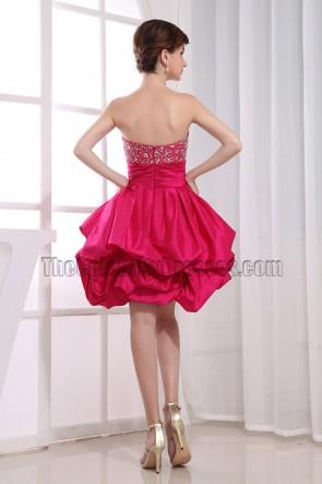 Cute A-Line Fuchsia Homecoming Graduation Party Dresses