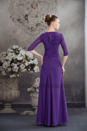 Elegant Regency Chiffon A-Line Bridesmaid Prom Dresses