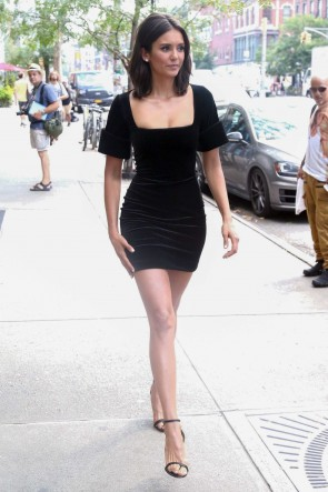 Nina Dobrev Little Black Dress The Late Show with Stephen Colbert TCD7978