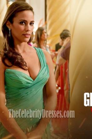 Paula Patton robe de soirée verte dans le film Mission Impossible