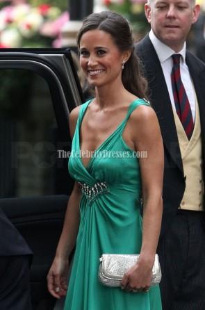 Pippa Middleton robe de demoiselle d'honneur vert émeraude mariage royal