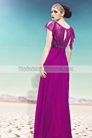 Purple Floor Length Formal Dress Evening Gown With Beading