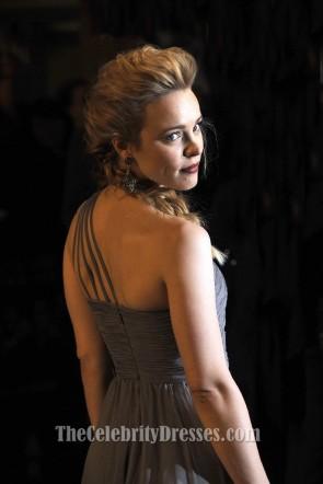 Rachel McAdams - Robe asymétrique en argent à une épaule Sherlock Holmes Premiere