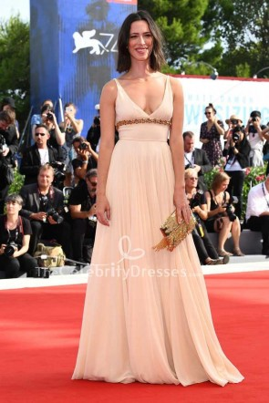 Rebecca Hall Nude Empire Evening Prom Dress 2017 Venice Film Festival Premiere Of First Reformed