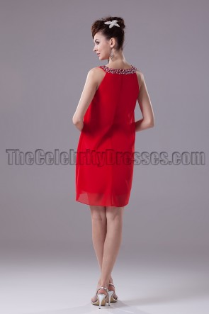 Discount Red Short Party Homecoming Graduation Dresses