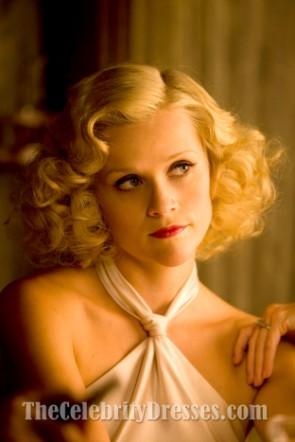 Reese Witherspoon Ivoire Halter robe de soirée dans le film de l'eau pour les éléphants