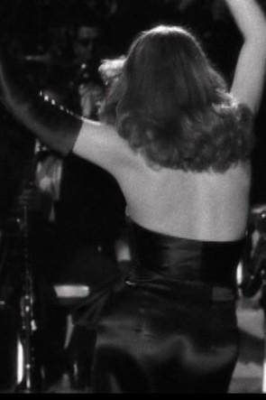 Rita Hayworth robe de soirée noire sans bretelles robe de bal dans le film