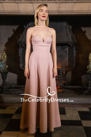 Saoirse Ronan  Pink Strapless Evening Dress Scotland Premiere of 'Mary Queen of Scots'