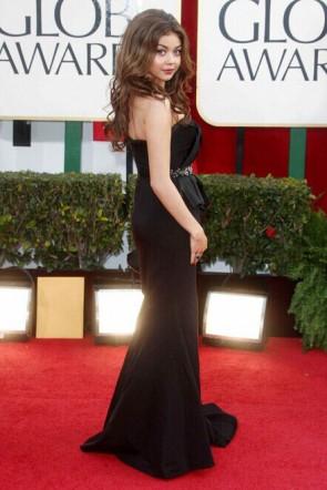 Sarah Hyland Robe noire formelle Golden Globe Awards 2013