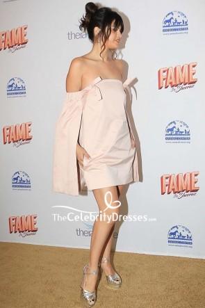 Selena Gomez Strapless Cocktail Dress 2020 Hollywood Beauty Awards