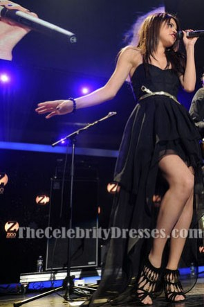 Selena Gomez noir haute basse robe de bal Z100 Jingle Ball 2010