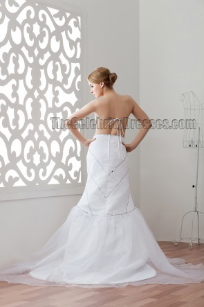 Sexy Backless Strapless Sweetheart Beaded Wedding Dresses