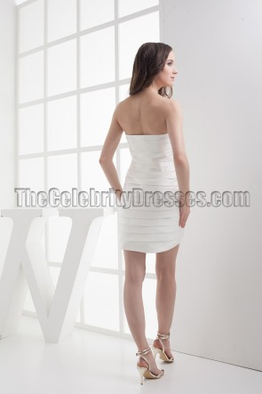 Sexy Ivory Mini Strapless Party Cocktail Dresses