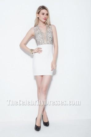 Sexy Mini White Party Dress