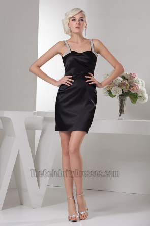 Sexy Sheath/Column Short Mini Black Party Cocktail Dresses
