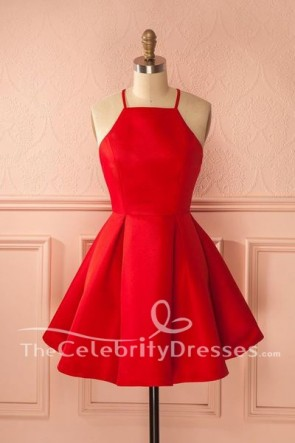Sexy Short Mini Red Sleeveless Party Homecoming Dress