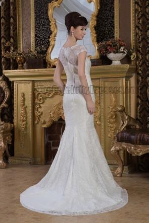 Sheath/Column Lace Sweep/Brush Train Wedding Dress Bridal Gown