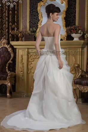 Sheath /Column Strapless Sweetheart Organza Wedding Dresses