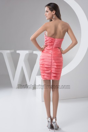 Short /Mini Sweetheart Strapless Party Homecoming Dresses