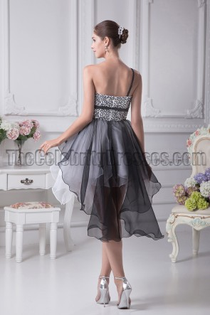 White And Black Homecoming Party Dresses With Beading