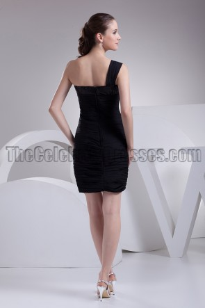 Short One Shoulder Little Black Dress Party Dresses