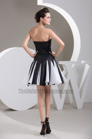 White And Black Party Homecoming Cocktail Dresses