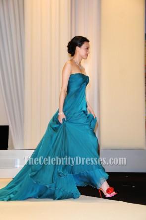 Shu Qi en mousseline de soie soirée robe de bal Festival de Cannes 2009 Opening Night Premiere