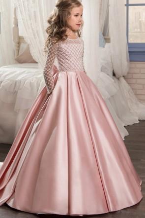 Satin Ball-Gown Junior Bridesmaid Dress