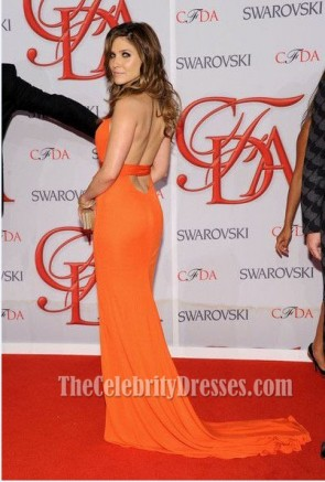 Sophia Bush Orange robe de bal de soirée 2012 CFDA Fashion Awards robe formelle