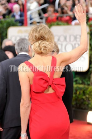 Stacy Keibler rouge robe de bal de soirée 2012 Golden Globes