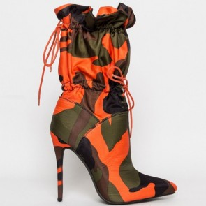 Stiletto Heel Pointed Toe Boots With Zipper Shoes