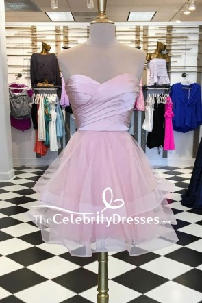 Strapless Baby Doll Sweet 16 Short Prom Dress