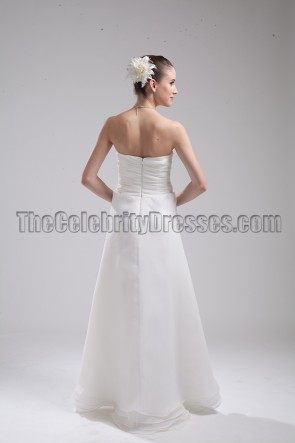 Floor Length Strapless Sweetheart A-Line Wedding Dress