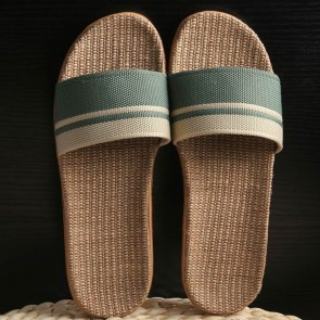 Striped Wide Fit Open Toe Sliders