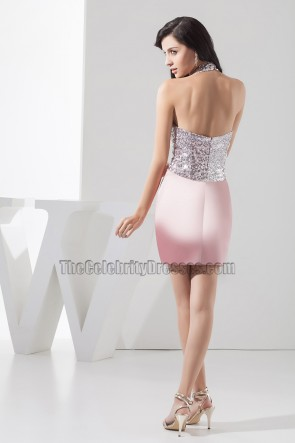 Stunning Short Halter Party Homecoming Cocktail Dresses