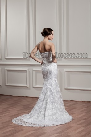 Sweep/Brush Train Strapless Beaded Bridal Gown Wedding Dresses