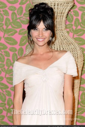 Tamara Feldman Off-the-Shoulder Prom Dress 2010 Emmy Awards
