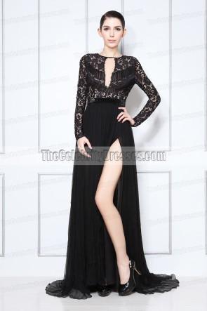 Eva Longoria robe de soirée noire 2013 Golden Globe Awards tapis rouge