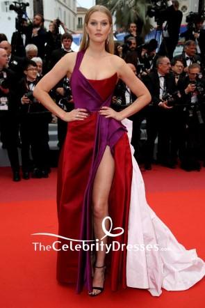 Toni Garrn One Shoulder Satin And Taffeta Evening Dress 2019 Cannes Film Festival