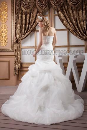 Trumpet/Mermaid Strapless Beaded Chapel Train Wedding Dresses