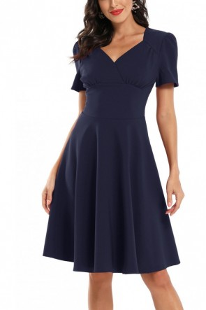 Vintage V-Neck A-line Homecoming Dress