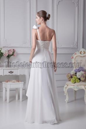 White One Shoulder Informal Wedding Dresses