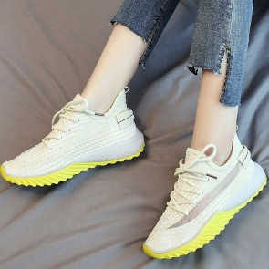 Women's Mesh Platform Sneakers With Lace-up