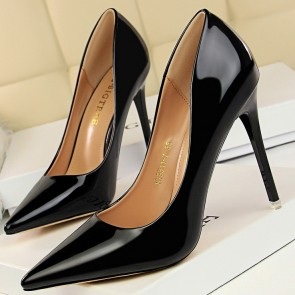 Women's Patent Leather Stiletto Heel Closed Toe For Prom